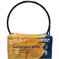 Canasta de baloncesto Estable estructura de metal. En tamaño oficial con 45cm Diámetro. Completo con Red de baloncesto.