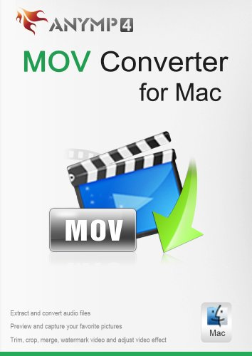 AnyMP4 MOV Converter für Mac Lifetime License - Videos wie MP4, FLV, AVI, WMV in MOV auf Mac konvertieren [Download] -