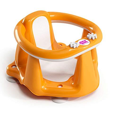 Ok Baby Flipper Evolution 37994540 Anello con Seduta Goa Antiscivolo per Bagnetto Neonato 6 15 Mesi Arancione