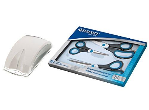 Westcott 90027-15526 Kombipack Easy Grip Scheren Set und Schneidemaus 4 Teile