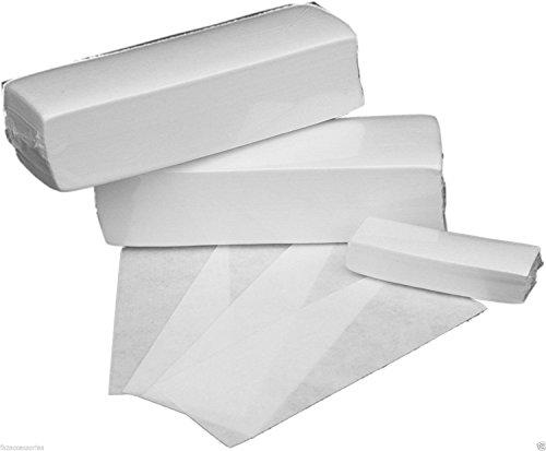 100pcs weiße Entfernung Vlies Tuch Haare entfernen Wachspapier Rollen hochwertige Haar Entfernung Epilierer Wachs Streifen Papier Seitenneigung