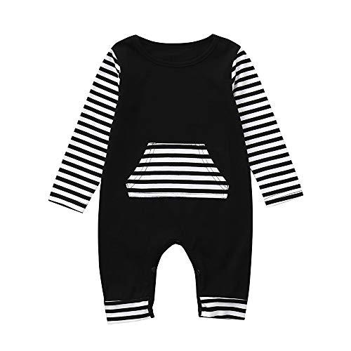 Babykleidung Satz, LANSKIRT Kleinkind Baby Overall Mädchen Jungen Outfits Kleidung Gestreifter Langarm Strampler 0-24 Monate