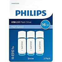 Philips Pen Drive FM16FD70E Lot 3 clés USB 2.0 16 Go avec capuchon et porte-clés