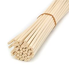 Idea Regalo - Ougual 100 pezzi Rattan Reed diffusore bastoncini di ricambio, natural color (30cm*3mm)
