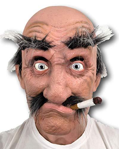 Rubber Johnnies Alter Mann Maske,, Smokey Joe, Erwachsene, Einheitsgröße, Theater, Filmqualität