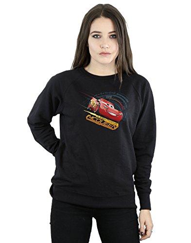 Disney Damen Cars Lightning McQueen Sweatshirt XX-Large Schwarz (Cars Disney Damen)