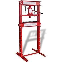 vidaXL VidaXL Prensa Hidráulica de Taller 20 Ton Color Rojo