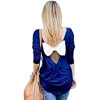 Minetom Donna T-shirt Camicetta Tops Maniche Lunghe