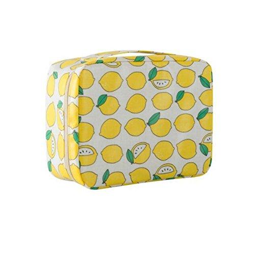 Sac cosmétique multifonctionnel de sac de voyage imperméable de sac de voyage (modèle de citron)
