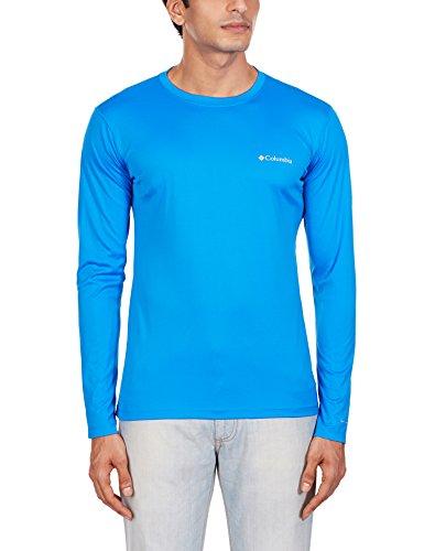 Columbia Men's norme Zero-Maglietta a maniche lunghe Blu - Blu hyper