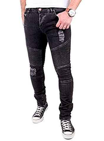 Tazzio Jogg-Jeans Herren Slim Fit Biker Jogging Jeans Hose TZ-517