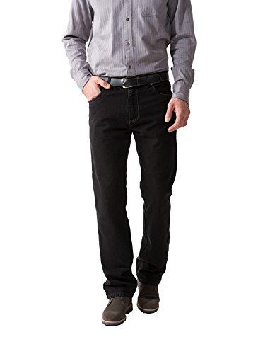 Michaelax-Fashion-Trade - Jeans - Jambe droite - Uni - Homme Noir - Noir