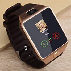 Axxe Samsung Galaxy J7 4G Compatible Samsung Edge Bluetooth DZ09 Smart Watch Wrist Watch Phone with Camera & SIM Card Support