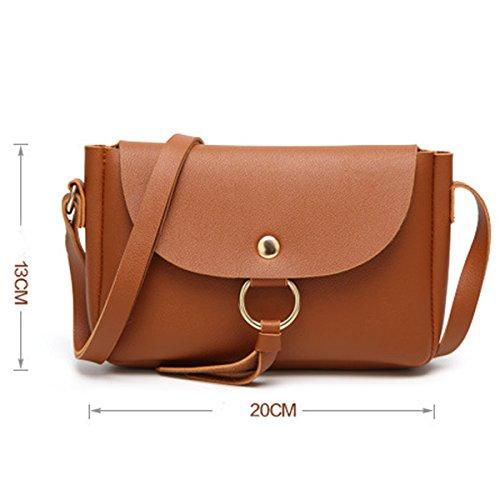 Frauen Arbeiten PU-Leder-Handtaschen-Schulter-Kurier Taschen Multicolor Grey