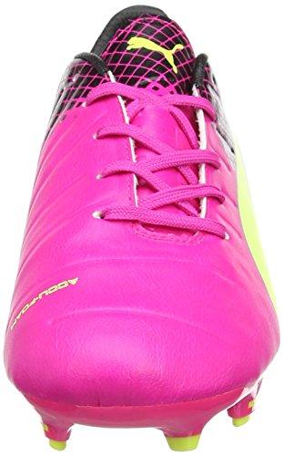 Puma Evopower 1.3 Tricks Fg Jr Unisex-Kinder Fußballschuhe Pink (pink glo-safety yellow-black 01)