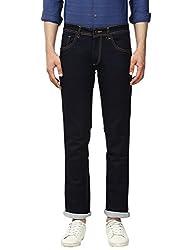 Park Avenue Mens Slim Fit Jeans (8907575388514_PCYC00441-B8_38W x 33L_Dark Blue)