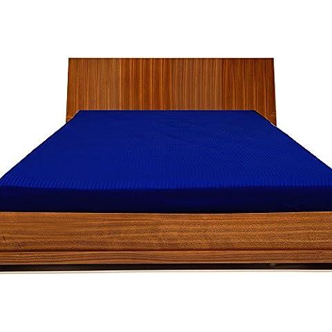 royallinens biancheria Georgeous 1pcs lenzuolo con angoli a righe (Pocket Size: 10cm), Cotone, Royal Blue Stripe, Single Extra Long - Mickey Crib Sheet
