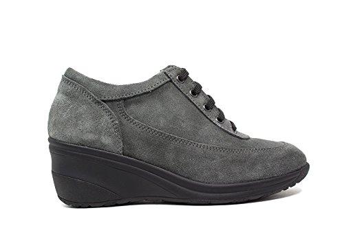 Only I sneakers donna zeppa media 4265 camoscio grigio nuova collezione autunno inverno 2016 2017