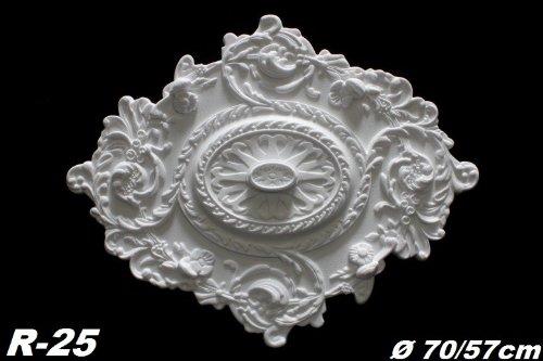 Dekorrosette Polystyrol Ø70/57cm