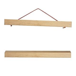 artissimo, PE6349-PL, magnetische Posterschiene für Bilder DinA4 quer oder DinA3 hoch, 30cm, Posterleiste, Posterhalter, Posterhänger aus Holz, Klemmschiene für Plakate, Print Hanger Holder