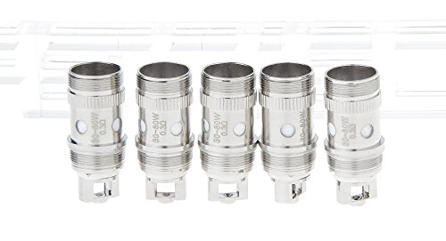 Authentic Eleaf iJust 2 EC Dual Coil Sub Ohm Replacement Coil Head (5-Pack) , 0.3ohm(30-80W)