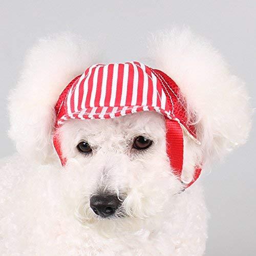 Sombrero de béisbol para mascotas de moda para viaje, al aire libre, protección solar, para perros pequeños, medianos y grandes.