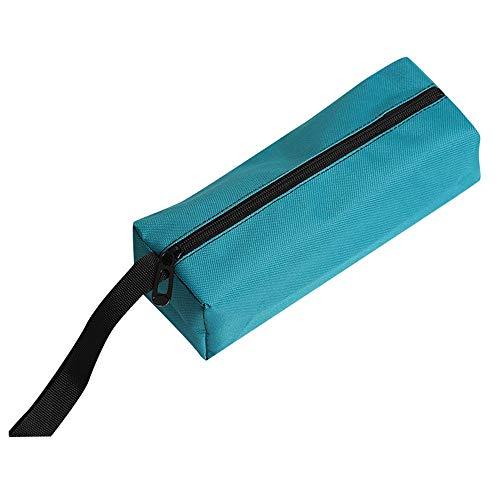 TDFGCR Reißverschluss Werkzeugtasche Beutel Organisieren Lagerung Kleinteile Handwerkzeug Klempner Elektriker-Blau -