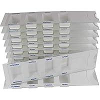 Medikamentendispenser Medi-Inn Tablettenbox Pillenbox Tages - Dispenser mit 4 Fächer(weiß Standard,10 Stück) preisvergleich bei billige-tabletten.eu