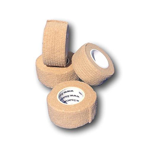 LisaCare Fingerpflaster selbsthaftend - elastisches, wasserfestes, staub- fett- und schmutzabweisendes Pflaster - HAUT - 4 Rollen á 2,5cm x 4,5m (Haut-klammer Entfernen)
