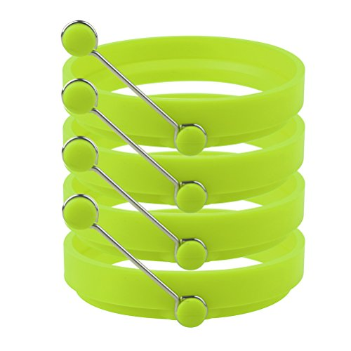 Sicai Ei Ring 4 Pack Antihaft Silikon Ei Ringe Pfannkuchenform Runde Kochen Form Grün