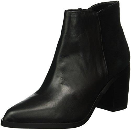 Buffalo London 15b66-3 Tassel Cow Suede, Botas Acolchadas Ligeras Mujer Negro (negro (negro 01))