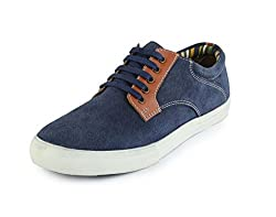 30s Impex Mens Blue Leather Shoes-10 UK