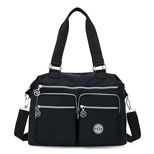 Foino Umhängetasche Wasserdicht Handtasche Damen Schultertasche Mode Taschen Leichter Reisetasche Messenger Bag für Università Schultaschen