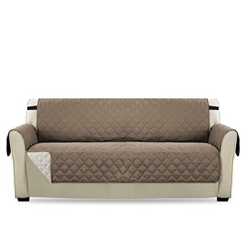 H.versailtex copridivano 3 posti impermeabile divano protector mobili coperture su due lati per cani/gatti letto con divano slipcovers 190 x 167cm, grigio marrone