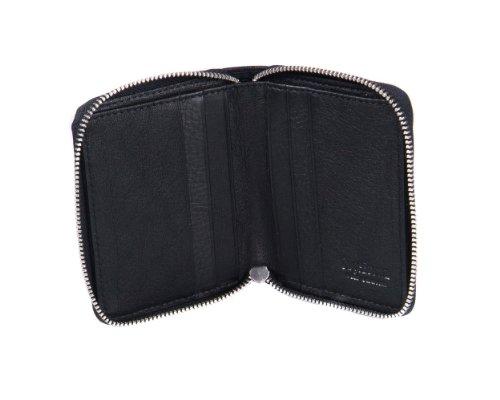 sagebrown-black-zip-around-wallet