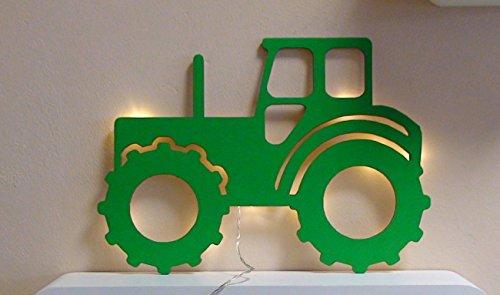 Schlummerlicht24 Lamparilla de noche Un tractor como decoración para el dormitorio o la sala, regalo ideal para aficionados a los Tractores , hecho a mano