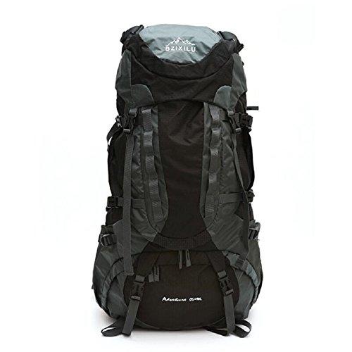 ZC&J Outdoor-Fernreisen Rucksack, 75 Liter große Kapazität Regenabdeckung wasserdichte Bergsteigen Tasche, geeignet für Mountain Riding Rucksack A