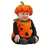 mama stadt Baby Kürbis Kostüm, Unisex Kinder Halloween Kostüme Schön Karneval Cosplay 3PC