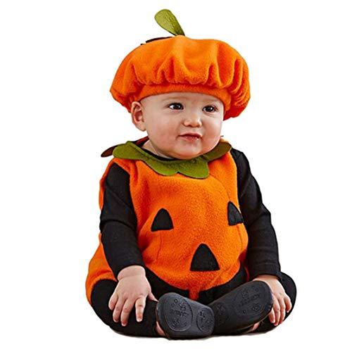 mama stadt Baby Kürbis Kostüm, Unisex Kinder Halloween Kostüme Schön Karneval Cosplay - Warm Wetter Kostüm Baby