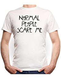 Normal People Scare Me T-Shirt Blanco