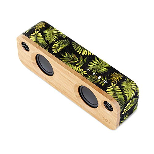 House of Marley Get Together Mini tragbare Bluetooth Box (2.5 Zoll Subwoofer & 1' Hochtöner, 10 Std. Akkulaufzeit, Aux-In, Laden per USB, Lautsprecher Telefonie für iPhone, iPad, Samsung etc) palm - Tragbar Bluetooth Ipad Lautsprecher
