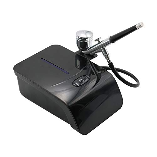 TEN-G Airbrush Nail Kit with Air Brush Compressor Airbrush Makeup System Nail Painting Art 5 Gears Aerografo Kit for Face Paint Coloring Cake Tool