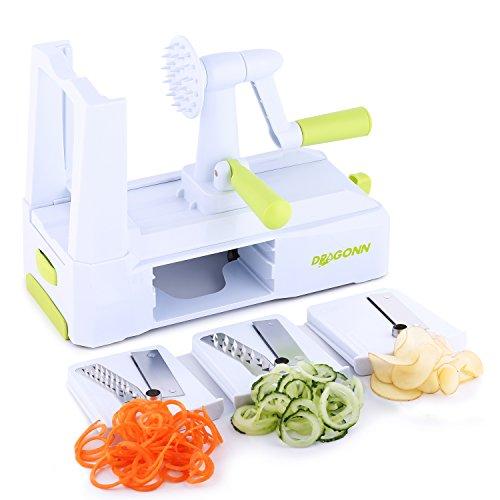 DRAGONN-Spiralizer-Cortador-de-Verdura-en-Espiral-de-3-Cuchillas-Espiralizador-de-Verduras-Cepillo-de-limpieza-incluido