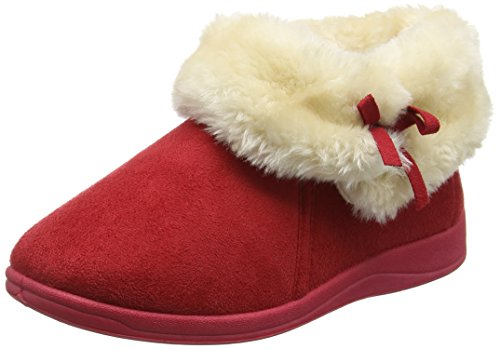 Dunlop Bessie, Pantofole Donna Rosso (Red (Winter Red))