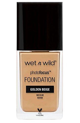 Wet N Wild - Photofocus Foundation - flüssig Foundation mit lichtreflektierenden Pigmenten, Golden Beige, 1 Stk. 30ml - Beige Flüssig-foundation