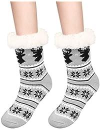 Fixget Calcetines de Navidad, calcetines de navidad calcetin de navidad pack calcetines de invierno hombre mujer calcetines mujer
