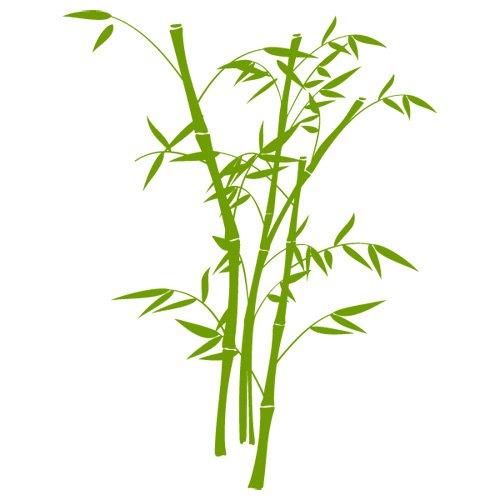 Sticker Bambou N°2 Vert Du Sud 47X60 Cm: Amazon.Fr: Cuisine & Maison