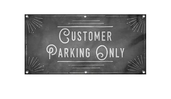 No Parking 12x4 CGSignLab Stripes White Wind-Resistant Outdoor Mesh Vinyl Banner