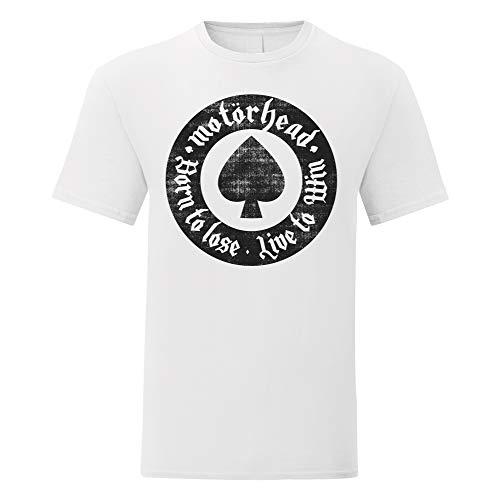 LaMAGLIERIA Camiseta Hombre Motorhead Round Artwork Black Print -...