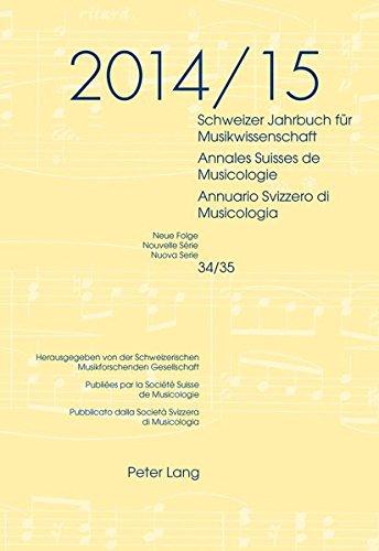 Schweizer Jahrbuch Fuer Musikwissenschaft